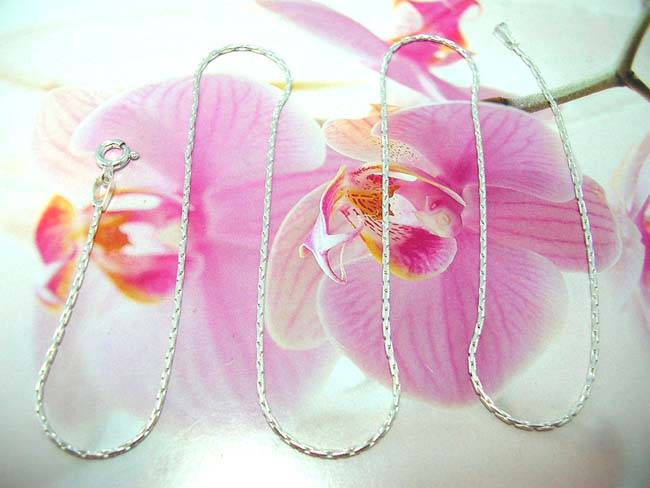 Handcrafted jewelry outlet factory, Stylish, sterling silver long chain necklace
