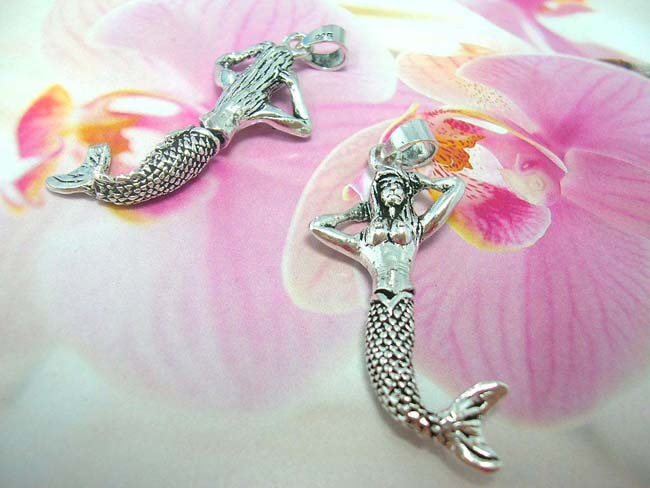 Best birthday accessory boutique store, Bali designed 925. sterling silver pendant in mermaid theme