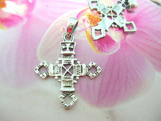 Premier accessories online, wholesale bali fashion Artifact designed, 925. sterling silver pendant in religious cross motif