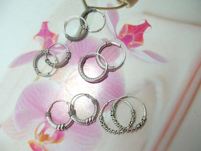 Balinese fantasy jewelry express outlet, Fine indonesian artisan hoop earrings handcrafted from 925. sterling silver