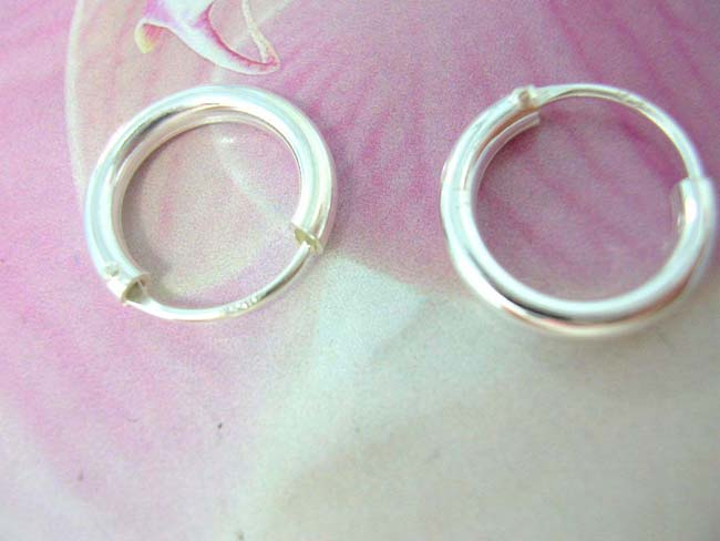 Womens accessory import boutique, Miniature fashion hoop earrings, handcrafted from 925. sterling silver
